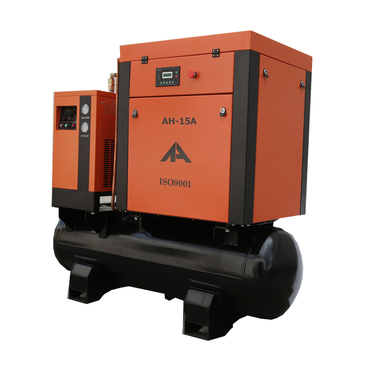 AH15A-SCTD Screw Compressor 11KW 15HP with tank and dryer