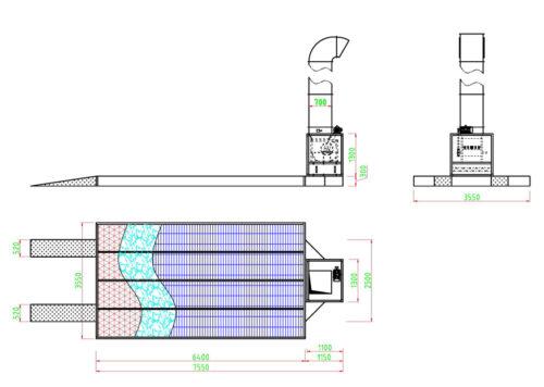 Hurricane YS300A Preperation Deck Dimensions