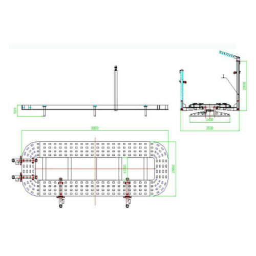 W6000 8m Truck Chassis Bench Draw